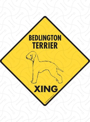 Bedlington Terrier Xing Sign or Sticker