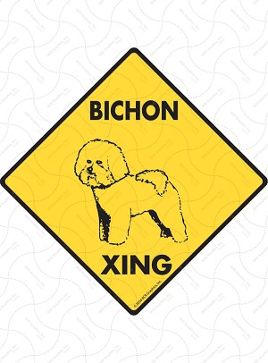 Bichon Xing Sign or Sticker