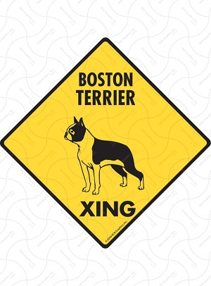 Boston Terrier Xing Sign or Sticker