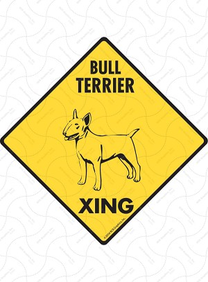 Bull Terrier Xing Sign or Sticker