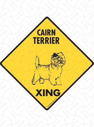 Cairn Terrier Xing Sign or Sticker