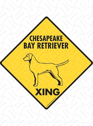 Chesapeake Bay Retriever Xing Sign or Sticker