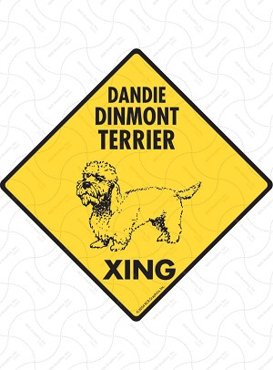 Dandie Dinmont Terrier Xing Sign or Sticker