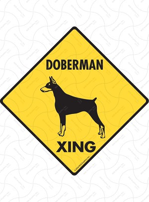 Doberman Xing Sign or Sticker