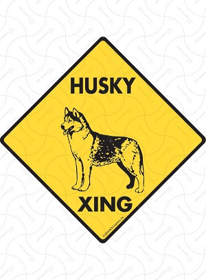 Husky Xing Sign or Sticker