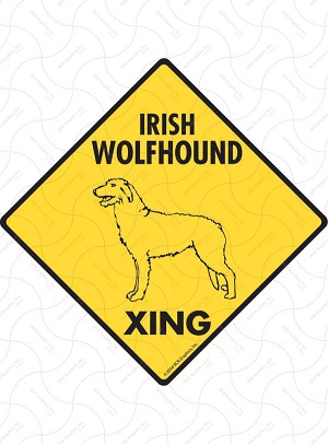 Irish Wolfhound Xing Sign or Sticker