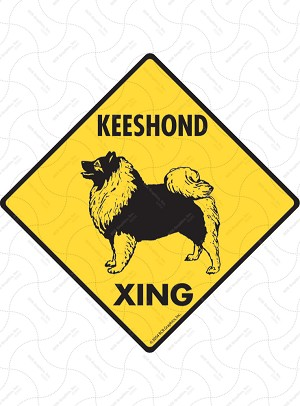 Keeshond Xing Sign or Sticker