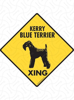 Kerry Blue Terrier Xing Sign or Sticker