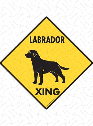 Labrador Retriever Xing Sign or Sticker