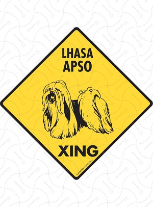 Lhasa Apso Xing Sign or Sticker