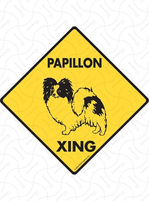 Papillon Xing Sign or Sticker