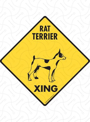 Rat Terrier Xing Sign or Sticker
