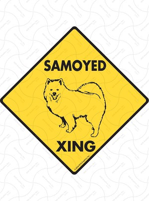 Samoyed Xing Sign or Sticker