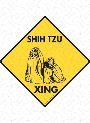 Shih Tzu Xing Sign or Sticker