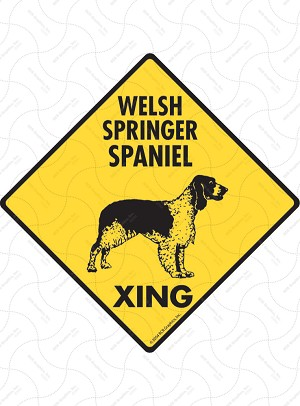 Welsh Springer Spaniel Xing Sign or Sticker