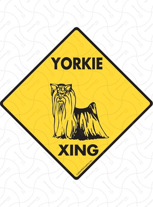 Yorkshire Terrier Xing Sign or Sticker