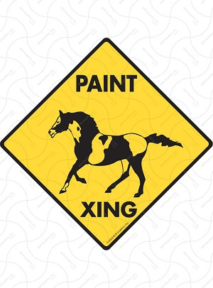 Paint Xing Sign or Sticker