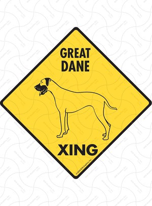 Great Dane Xing Sign or Sticker