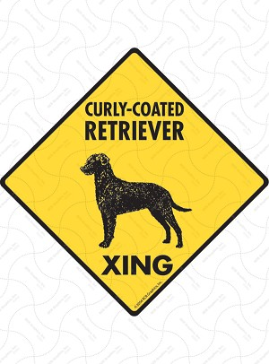 Curly-Coated Retriever Xing Sign or Sticker