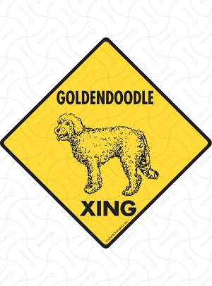 Goldendoodle Xing Sign or Sticker