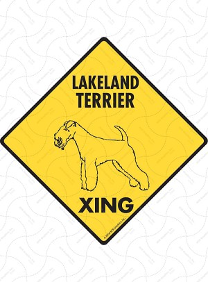Lakeland Terrier Xing Sign or Sticker