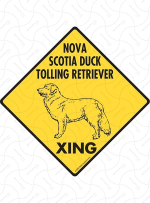 Nova Scotia Duck Tolling Retriever Xing Signs