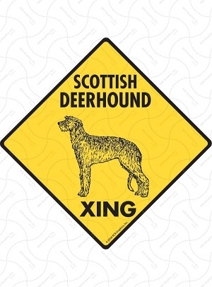 Scottish Deerhound Xing Sign or Sticker