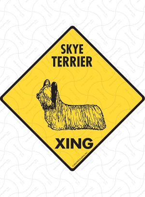 Skye Terrier Xing Sign or Sticker