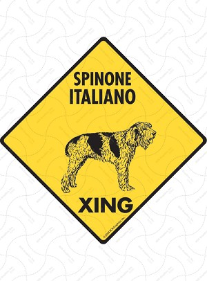 Spinone Italiano Xing Sign or Sticker