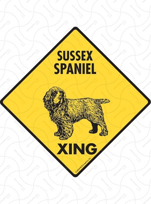 Sussex Spaniel Xing Sign or Sticker