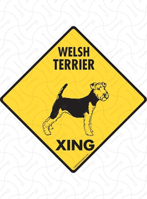 Welsh Terrier Xing Sign or Sticker