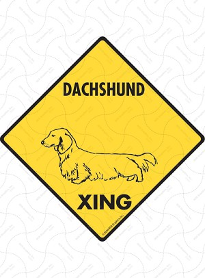 Dachshund Xing Sign or Sticker