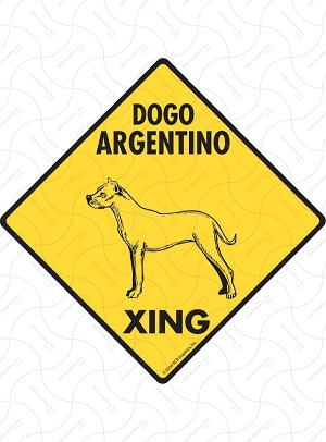 Dogo Argentino Xing Sign or Sticker