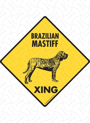 Brazilian Mastiff Xing Sign or Sticker