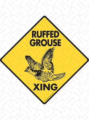 Ruffed Grouse Xing Sign or Sticker