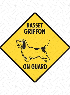 Basset Griffon On Guard Sign or Sticker