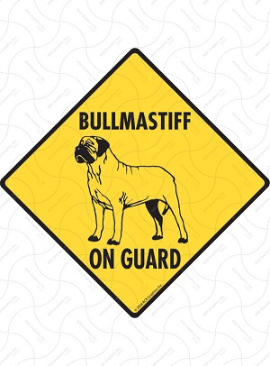 Bullmastiff On Guard Dog Signs and Sticker