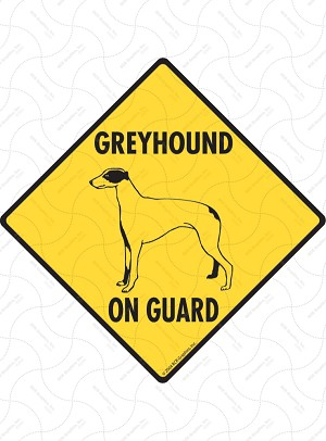 Greyhound On Guard Sign or Sticker