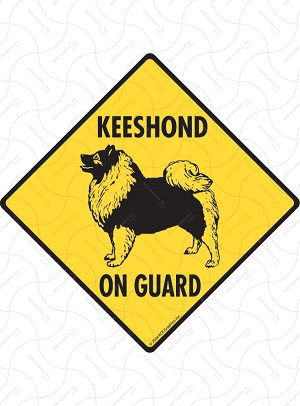 Keeshond On Guard Sign or Sticker