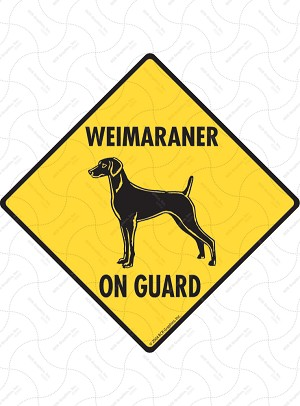 Weimaraner On Guard Sign or Sticker