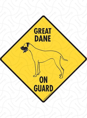 Great Dane On Guard Sign or Sticker