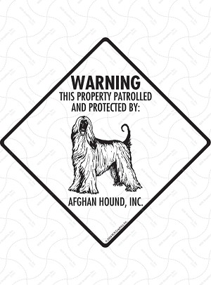 Afghan Hound - Warning! Property Sign or Sticker