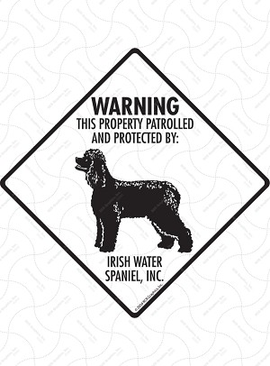 Irish Water Spaniel - Warning! Property Sign or Sticker