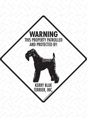 Kerry Blue Terrier - Warning! Property Sign or Sticker
