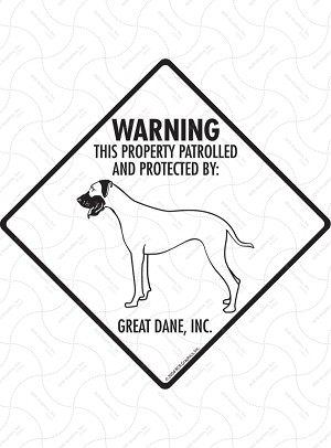 Great Dane - Warning! Property Sign or Sticker