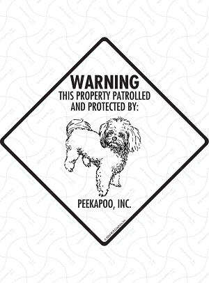 Peekapoo! Property Patrolled Signs and Sticker