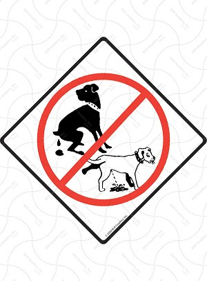 No Dog Pooping and Peeing Signs