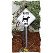 Potty Area with Dog Standing Sign on Stake
