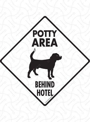 Potty Area with Dog Standing Sign or Sticker