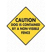 Caution! Dog is Contained Sign or Sticker
